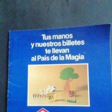 Coleccionismo Billetes de transporte: EL METRO TE ENSEÑA. PAPIROFLEXIA CON BILLETES DE METRO. METRO DE MADRID, 1986. Lote 237656305