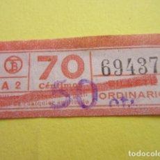 Collectionnisme Billets de transport: REF: CV1234 - BILLETE PERTENECE COLECCION DE 550 BILLETE TRANVIAS BARCELONA DIFERENTES LEER INTERIOR. Lote 238212295