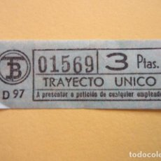 Collectionnisme Billets de transport: REF: CV1234 - BILLETE PERTENECE COLECCION DE 550 BILLETE TRANVIAS BARCELONA DIFERENTES LEER INTERIOR. Lote 238220670