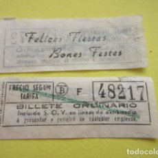 Collectionnisme Billets de transport: REF: CV1234 - BILLETE PERTENECE COLECCION DE 550 BILLETE TRANVIAS BARCELONA DIFERENTES LEER INTERIOR. Lote 238222560
