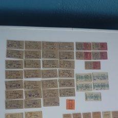 Coleccionismo Billetes de transporte: LOTE DE 63 BILLETES DE TREN O TRANVIA, VALENCIA Y ALREDEDORES, ANTIGUOS, CARTON, VER FOTOS. Lote 241864680