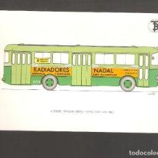 Coleccionismo Billetes de transporte: 1 POSTAL DE BARCELONA AUTOBUS PEGASO SEIDA AÑO 1951. Lote 243176240