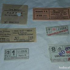Coleccionismo Billetes de transporte: LOTE DE 6 DIFERENTES BILLETES, CINE, METRO Y BUS. Lote 243309215