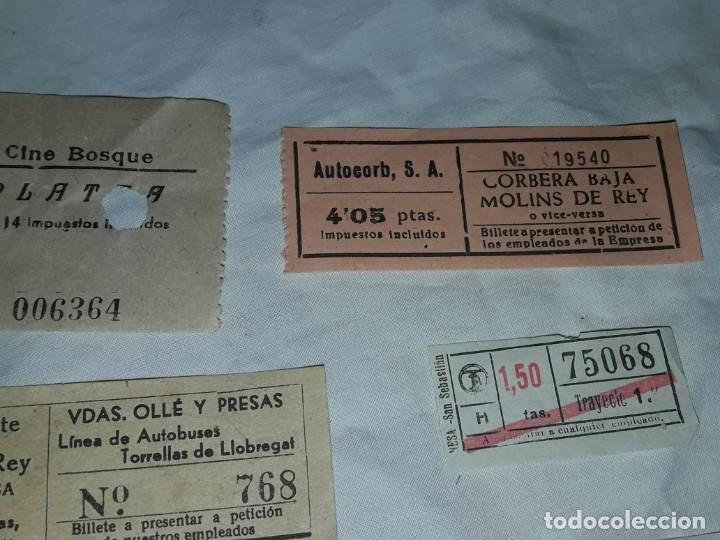 Coleccionismo Billetes de transporte: Lote de 6 diferentes billetes, Cine, metro y bus - Foto 2 - 243309215