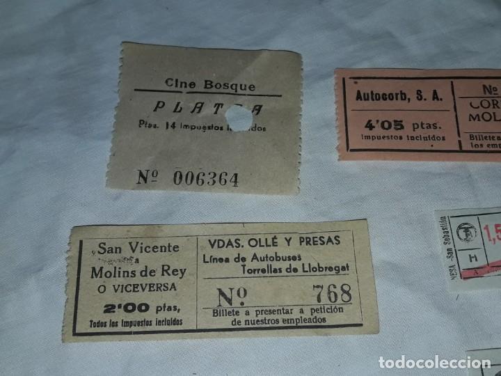Coleccionismo Billetes de transporte: Lote de 6 diferentes billetes, Cine, metro y bus - Foto 3 - 243309215