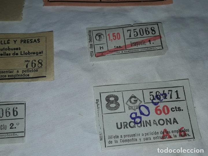 Coleccionismo Billetes de transporte: Lote de 6 diferentes billetes, Cine, metro y bus - Foto 4 - 243309215