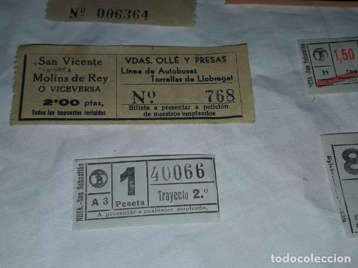 Coleccionismo Billetes de transporte: Lote de 6 diferentes billetes, Cine, metro y bus - Foto 5 - 243309215
