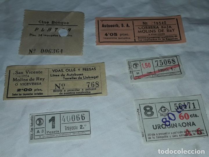 Coleccionismo Billetes de transporte: Lote de 6 diferentes billetes, Cine, metro y bus - Foto 6 - 243309215