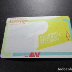 Coleccionismo Billetes de transporte: TARJETA B10 EMT Y FGV VALENCIA. Lote 243637675