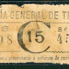 Coleccionismo Billetes de transporte: F06/1- BILLETE DE CGT // RAREZA R // AÑO 1880. Lote 244653760