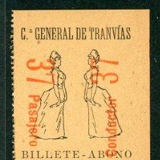 Coleccionismo Billetes de transporte: F06/4- BILLETE ABONO DE CGT // RAREZA RR // 1896. Lote 244655860