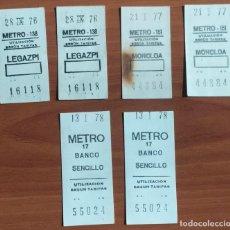 Coleccionismo Billetes de transporte: 3 PAREJAS DE BILLETES DE METRO DE MADRID CON LA MISMA NUMERACIÓN Y CONSECUTIVOS (1976, 1977 Y 1978). Lote 244694305