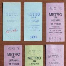 Coleccionismo Billetes de transporte: 8 BILLETES CAPICUA DE METRO DE MADRID (ENTRE LOS AÑOS 1979 Y 1985). Lote 244695005