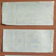 Coleccionismo Billetes de transporte: 5 BILLETES CAPICUA ANTIGUOS DE LA EMT DE MADRID (AÑOS 70 Y 80 DEL SIGLO PASADO). Lote 244695475