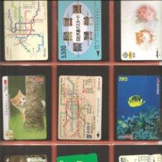 Coleccionismo Billetes de transporte: LOTE 18 TARJETAS-BILLETES TRANSPORTE, JAPÓN, METRO-AUTOBÚS-FERROCARRIL. Lote 245547490