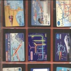 Coleccionismo Billetes de transporte: LOTE 18 TARJETAS-BILLETES TRANSPORTE, JAPÓN, METRO-AUTOBÚS-FERROCARRIL. Lote 245548195