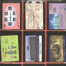 Coleccionismo Billetes de transporte: LOTE 18 TARJETAS-BILLETES TRANSPORTE, JAPÓN, METRO-AUTOBÚS-FERROCARRIL. Lote 245548585