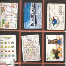 Coleccionismo Billetes de transporte: LOTE 18 TARJETAS-BILLETES TRANSPORTE, JAPÓN, METRO-AUTOBÚS-FERROCARRIL. Lote 245549255