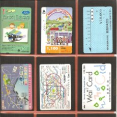 Coleccionismo Billetes de transporte: LOTE 9 TARJETAS-BILLETES TRANSPORTE, JAPÓN, METRO-AUTOBÚS-FERROCARRIL. Lote 245550310