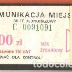 Coleccionismo Billetes de transporte: BILLETES TRANSPORTE, POLONIA-ŻYRARDÓW, BÚS. Lote 245645955