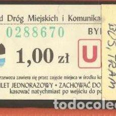 Coleccionismo Billetes de transporte: BILLETES TRANSPORTE, POLONIA-BYDGOSZCZ, BÚS-TRAM. Lote 245711915