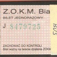 Coleccionismo Billetes de transporte: BILLETES TRANSPORTE, POLONIA-BIALYSTOK, BÚS. Lote 245712320