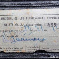 Coleccionismo Billetes de transporte: BILLETE RED NACONAL DE LOS FERROCARRILES ESPAÑOLES. Lote 245772765