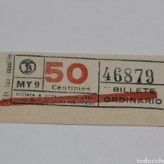 Coleccionismo Billetes de transporte: BILLETE ANTIGUO. VER FOTOS.. Lote 246159380