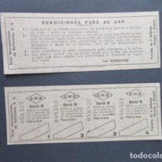 Coleccionismo Billetes de transporte: GRAN METROPOLITANO DE BARCELONA TARJETA DE 4 VIAJES SIN USAR. Lote 246263085