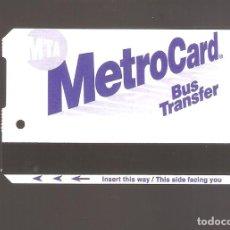Coleccionismo Billetes de transporte: 1 BILLETE DE TRANSPORTE AMERICANO NUEVA YORK. Lote 247116945
