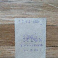 Coleccionismo Billetes de transporte: BILLETE METRO DE MADRID. ESTACION COLON AÑOS 50`S ABRIL. VER FOTOS. Lote 247473125
