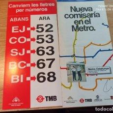 Coleccionismo Billetes de transporte: TMB. TRIPTICOS. Lote 247739700