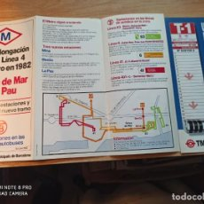 Coleccionismo Billetes de transporte: TMB. TRIPTICOS. Lote 247741685