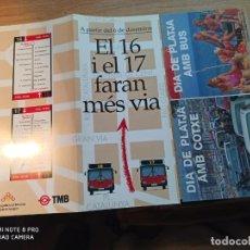 Coleccionismo Billetes de transporte: TMB. TRIPTICOS. Lote 247742230