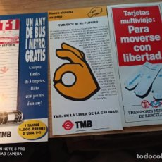 Coleccionismo Billetes de transporte: TMB. TRIPTICOS. Lote 247743075