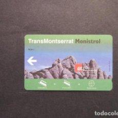 Collectionnisme Billets de transport: TARJETA TRANS MONSERRAT MONISTROL. Lote 249283445
