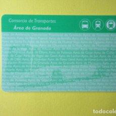 Collectionnisme Billets de transport: TARJETA PLASTICO CONSORCIO TRANSPORTE ANDALUCIA AREA GRANADA. Lote 249544490