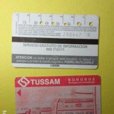 Coleccionismo Billetes de transporte: TARJETA MAGNETICA SEVILLA TUSSAM BONOBUS 10 VIAJES - NEBOT MODELO 7 VER TRASERAS DIFERENTES. Lote 289746343