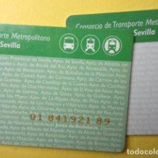 Collectionnisme Billets de transport: TARJETA PLASTICO SEVILLA CONSORCIO DEL TRANSPORTE - MODELO 4 FRONTAL OSCURO. Lote 249548620