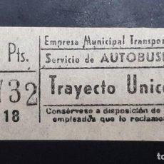Collectionnisme Billets de transport: CAPICÚA 23732 EMT - AUTOBUSES. Lote 252866990