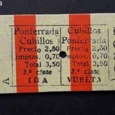 Collectionnisme Billets de transport: BILLETE DE CARTÓN. Lote 254219325