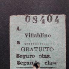 Collectionnisme Billets de transport: BILLETE DE CARTÓN. Lote 254229580