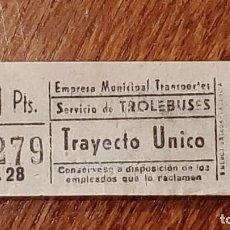 Coleccionismo Billetes de transporte: CAPICÚA 97279 EMT - TROLEBUSES. Lote 254286405