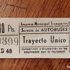 Coleccionismo Billetes de transporte: CAPICÚA 99899 EMT - AUTOBUSES. Lote 254287680