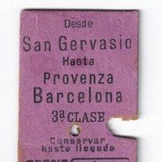 Coleccionismo Billetes de transporte: EDMONSON CAPICUA REAL 77777 - FERROCARRILES GENERALITAT CATALANES SARRIA BARCELONA -. Lote 258255135
