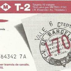 Coleccionismo Billetes de transporte: TMB. BITLLET PRIMER TRAMVIA DE CAVALLS. 1872. 125 ANYS TRAMVIA. 8,5X5,5 CM. 10 VIATGES. T-2. 1997.. Lote 259309285