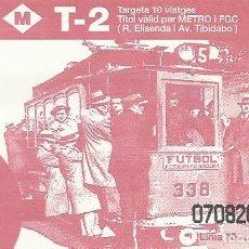 Coleccionismo Billetes de transporte: TMB. FGC. LÍNIA 15. LES CORTS. 1933. 8,5X5,5 CM. T-2. 1997. METRO. 10 VIATGES.. Lote 259310330