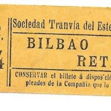 Colecionismos Bilhetes de Transporte: BILLETE DE LA SOCIEDAD TRANVIAS DEL ESTE DE MADRID. Lote 260304495