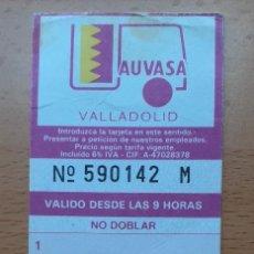 Coleccionismo Billetes de transporte: BONO 10 VIAJES AUVASA VALLADOLID 1994 AUTOBÚS URBANO. Lote 261225965