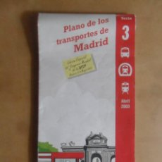 Coleccionismo Billetes de transporte: PLANO DE LOS TRANSPORTES DE MADRID, DESPLEGABLE GRAN FORMATO - CONSORCIO DE TRANSPORTES - ABRIL 2003. Lote 261232690